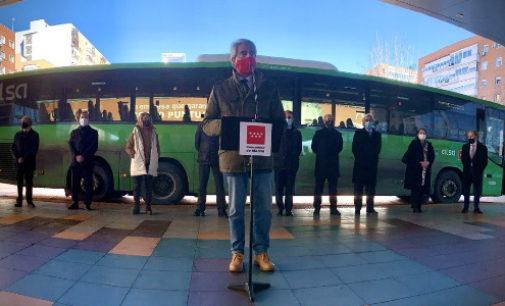 Desplegado el 100% de las líneas de autobuses interurbanos del Consorcio de Transportes de Madrid
