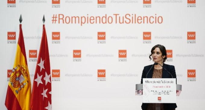 """Díaz Ayuso: """"La erradicación de la violencia contra las mujeres debe quedar fuera del partidismo. Es una lucha de todos"""""""