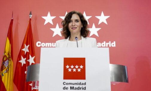Díaz Ayuso anuncia que la Comunidad de Madrid eliminará todos los impuestos propios