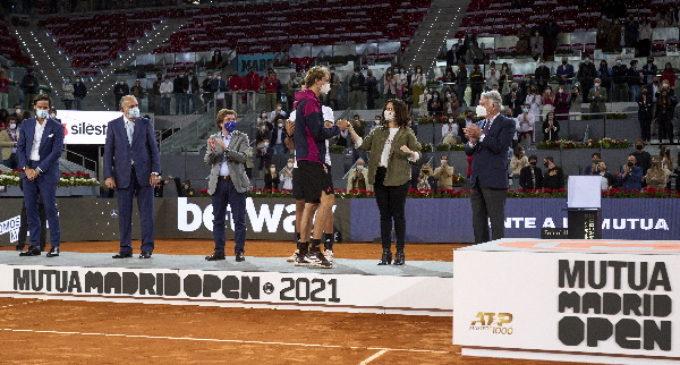 Díaz Ayuso asiste a la Final del Mutua Madrid Open