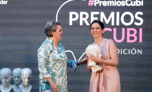 Díaz Ayuso dedica el Premio Cubí de FACYRE a los 31.000 empresarios del sector hostelero de la Comunidad de Madrid
