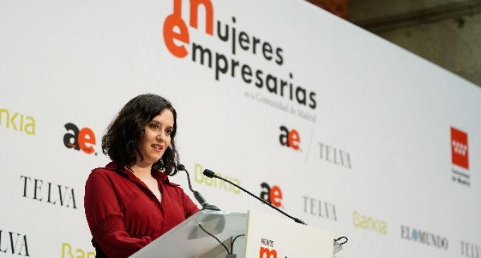 """Díaz Ayuso defiende """"el acto de valentía y riesgo de ser empresario frente a quienes lo demonizan"""""""