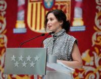 """Díaz Ayuso defiende la eliminación de los impuestos propios en la Comunidad de Madrid: """"Hay quien prefiere usar el dinero público para regalar millones de euros a fondo perdido, nosotros preferimos eliminar impuestos"""""""