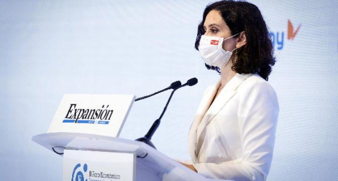 """Díaz Ayuso defiende que """"la lucha por la libertad debe ser diaria"""" ante el """"riesgo que corre España de involucionar"""""""