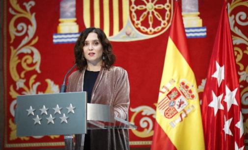 """Díaz Ayuso define 2020 en cinco palabras: """"Dolor, extenuación, solidaridad, responsabilidad y gratitud"""""""