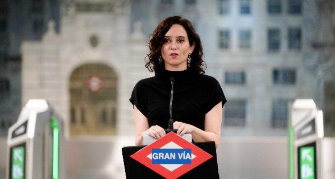 """Díaz Ayuso inaugura la nueva estación de Metro de Gran Vía, una estación """"pionera en Europa"""" por su tecnología y accesibilidad"""