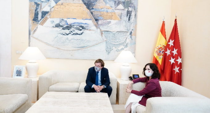 Díaz Ayuso mantiene con el alcalde de Madrid su primera reunión institucional tras tomar posesión como presidenta