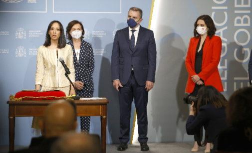 Díaz Ayuso pide a la nueva delegada de Gobierno colaboración en la lucha contra el COVID-19