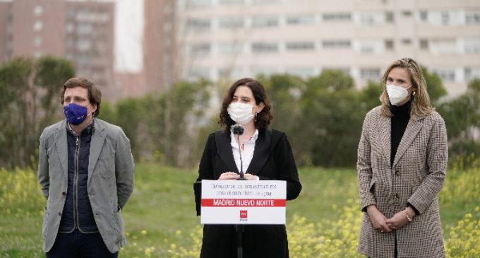 """Díaz Ayuso presenta el proyecto hidráulico para empezar por los """"cimientos"""" de Madrid Nuevo Norte"""
