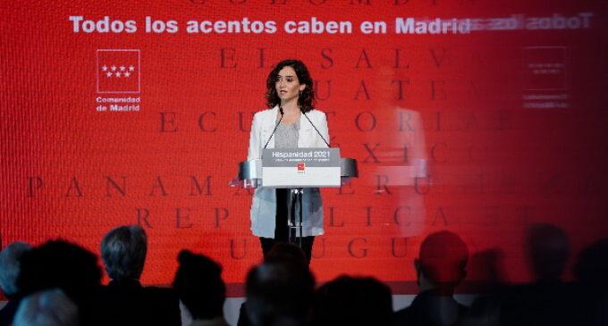 """Díaz Ayuso presenta la Oficina del Español, """"la mayor apuesta de una Administración para defender y potenciar nuestro idioma"""""""