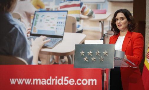 Díaz Ayuso presenta una nueva plataforma educativa con más de 300.000 contenidos curriculares bilingües de asignaturas troncales