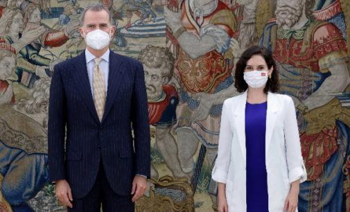 Díaz Ayuso, recibida en audiencia por su Majestad el Rey Felipe VI en el Palacio de la Zarzuela