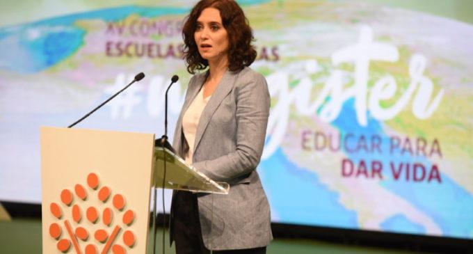 Díaz Ayuso: Las palabras de Celaá «podrían ser el anuncio de la nueva política educativa»