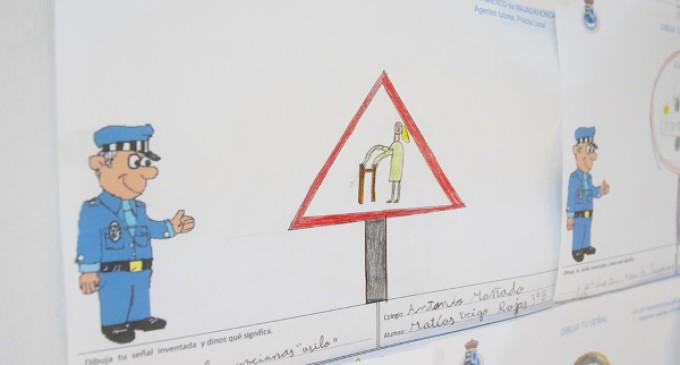 Más de 400 niños de Majadahonda dibujan la versión más original de las señales de tráfico