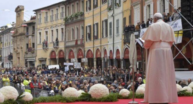 Discurso del Papa en la plaza del Pueblo, en Cesena