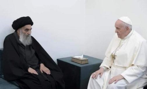 El Papa Francisco se encuentra con el Gran Ayatollah Al-Sistani
