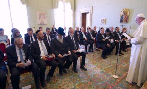 """Le entregan al Papa el nuevo documento """"Entre Jerusalén y Roma"""""""