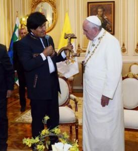 El Papa en el palacio presidencial 1