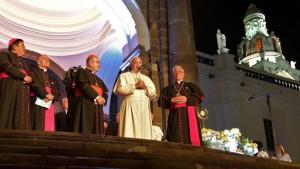 El Papa en la catedral de Quito 1