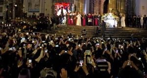El Papa en la catedral de Quito 2