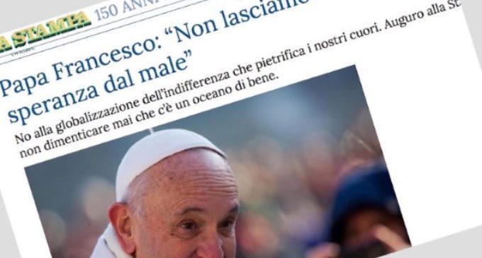 El Papa invita a los medios a no olvidarse del 'océano de bien' que hay en el mundo