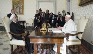 El Papa y el presidente de Irán 2