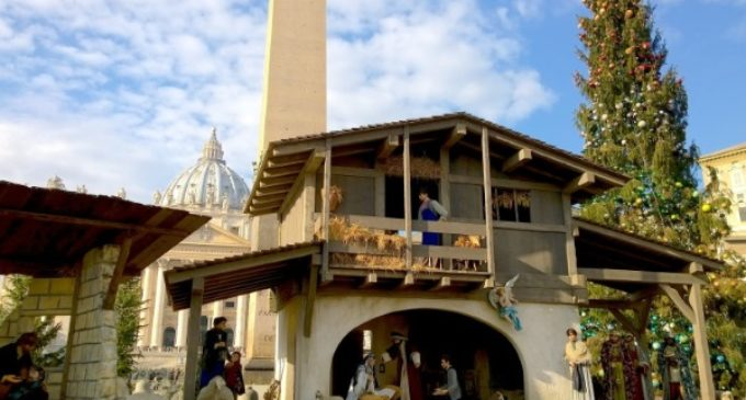 El 9 de diciembre inauguran el pesebre y árbol de Navidad en la plaza de San Pedro