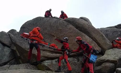 El rescate de personas concentra siete de cada diez actuaciones de los bomberos del GERA en la sierra