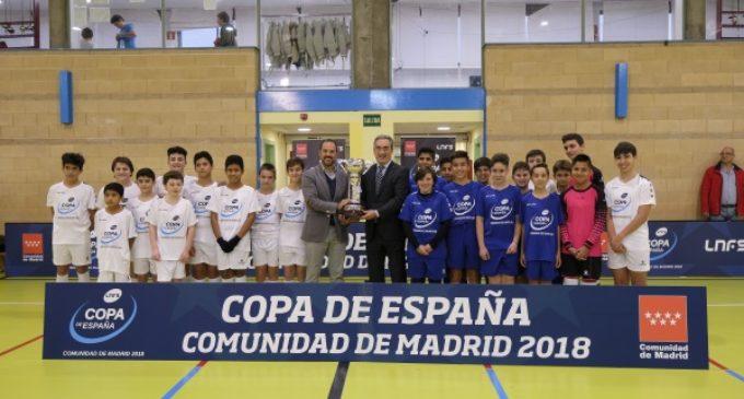 El trofeo de la Copa Nacional de Fútbol Sala 2018 ya está en la Comunidad de Madrid