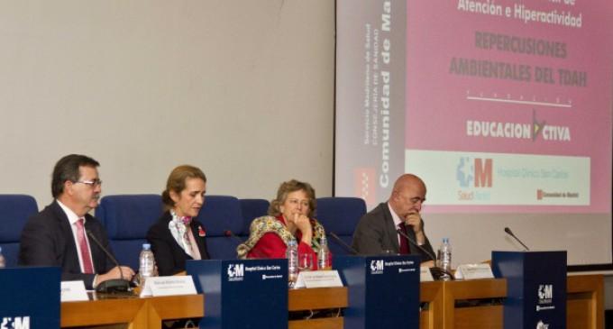 La Infanta Elena preside la inauguración de la XII Jornada sobre Trastorno de Déficit de Atención e Hiperactividad
