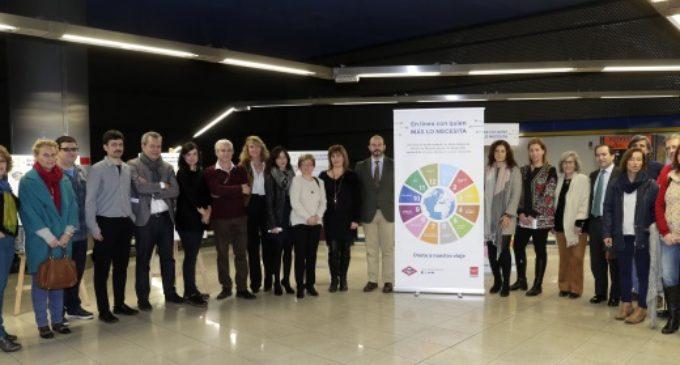 Doce entidades se vuelve a reunir en Metro para dar visibilidad a causas sociales y medioambientales