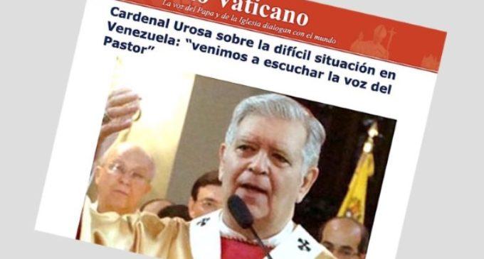 Declaraciones del cardenal Urosa a la Radio Vaticano antes de la audiencia con el Papa