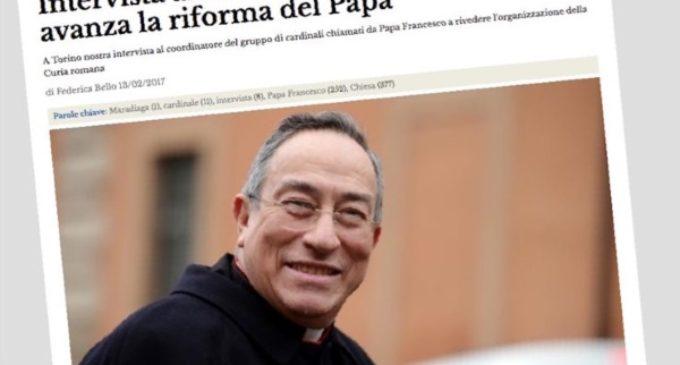 El Cardenal Maradiaga: Francisco ya hizo 18 reformas importantes en la Iglesia