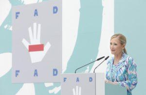 CIFUENTES ASISTE AL ACTO DEL XXX ANIVERSARIO DE LA FUNDACIÓN DE AYUDA CONTRA LA DROGADICCIÓN QUE PRESIDE S.M. LA REINA LETIZIA Y DE HOMENAJE A S.M. LA REINA SOFÍA La presidenta de la Comunidad de Madrid. Cristina Cifuentes, asiste al acto del XXX aniversario de la Fundación de Ayuda contra la Drogadicción que preside S.M. la Reina, presidenta de honor de la FAD, y en el que se rendirá homenaje a Su Majestad la Reina Doña Sofía por su labor en la organización. Foto: Diego Sinova / Comunidad de Madrid