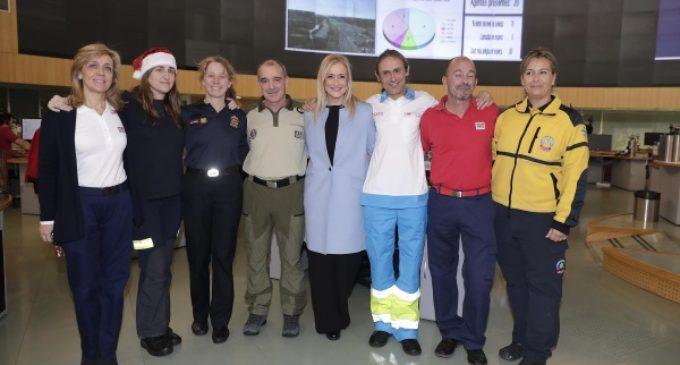Cifuentes felicita la Navidad a los trabajadores de emergencias de la Comunidad y les agradece su trabajo