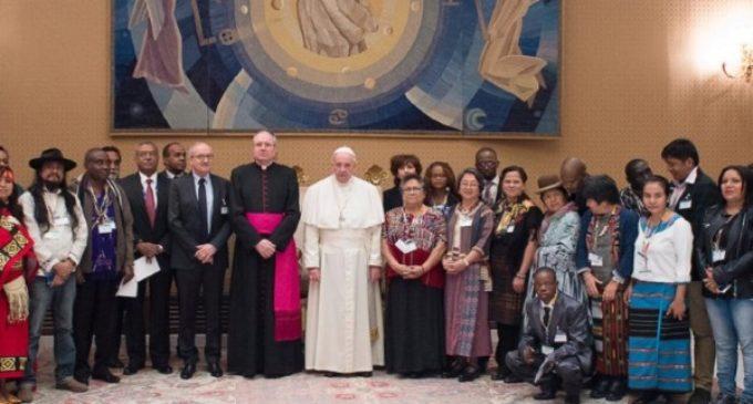 El Santo Padre pide inclusión para los pueblos indígenas y no solo consideración