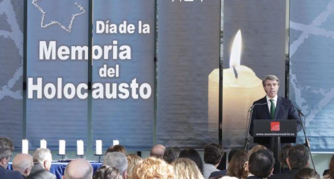 Garrido reconoce a las víctimas del Holocausto y recuerda las iniciativas de la Comunidad para mantener viva su memoria