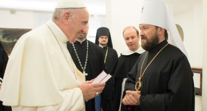 Visita del Metropolita ortodoxo ruso Hilarión al papa Francisco