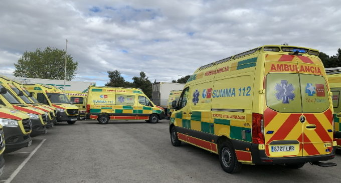 El SUMMA 112 renueva su flota de ambulancias de UVI móvil con tecnología sanitaria de última generación y vehículos menos contaminantes