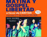 Gospel solidario en Majadahonda: Concierto de Matina y Gospel Libertad a favor de Cáritas