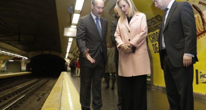 Cifuentes anuncia una inversión de 60,6 millones de euros para modernizar 23 estaciones de Metro
