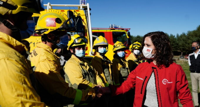 Díaz Ayuso hace balance de la campaña INFOMA 2021: Ocho de cada 10 incendios han sido conatos por la rapidez de los equipos de extinción