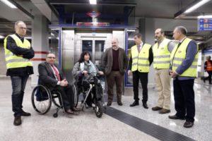 ROLLÁN ASISTE A LA FINALIZACIÓN DE TRABAJOS EN LA LÍNEA 1 DE METRO El consejero de Transportes, Infraestructuras y Vivienda de la Comunidad de Madrid, asiste a la finalización de los trabajos de mejora en la línea 1 de Metro y la puesta en marcha de un nuevo ascensor en la estación de Sol  Foto: D.Sinova / Comunidad de Madrid