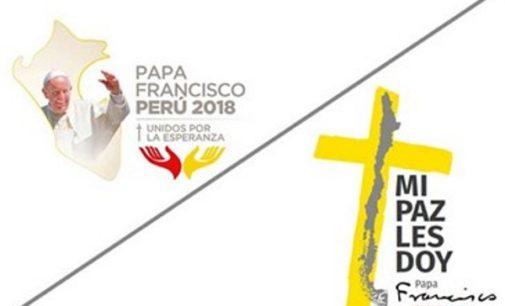 Cruz y unidad, logos del viaje papal a Chile y a Perú