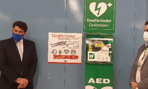 En Metro de Madrid se ha completado la instalación de desfibriladores