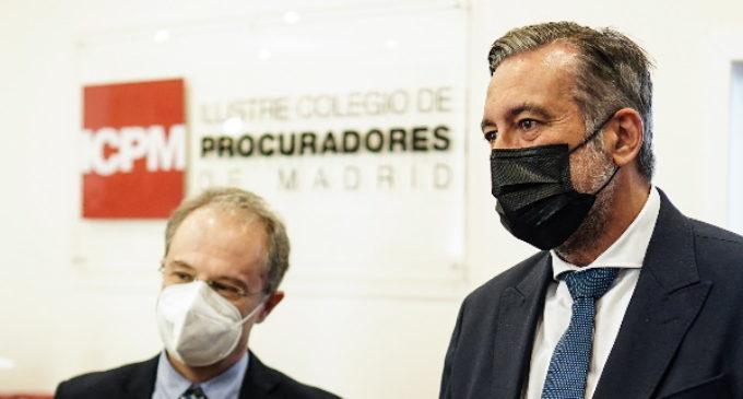 La Comunidad de Madrid, distinguida por los procuradores por su apoyo en la prestación del servicio de Justicia Gratuita y Turno de Oficio