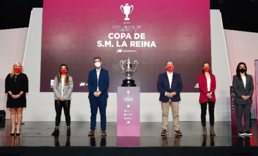 Presentación del Campeonato de España Copa S.M. la Reina de fútbol que se disputará en Madrid el mes de mayo