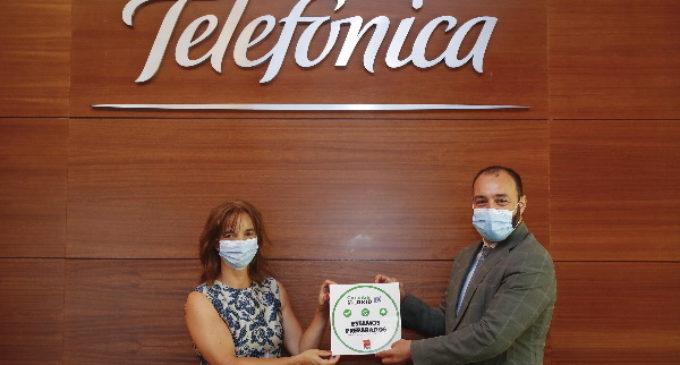 La Comunidad de Madrid entrega el identificativo Garantía Madrid a Telefónica