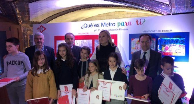 La Comunidad de Madrid entrega los premios del concurso de dibujo infantil sobre Metro