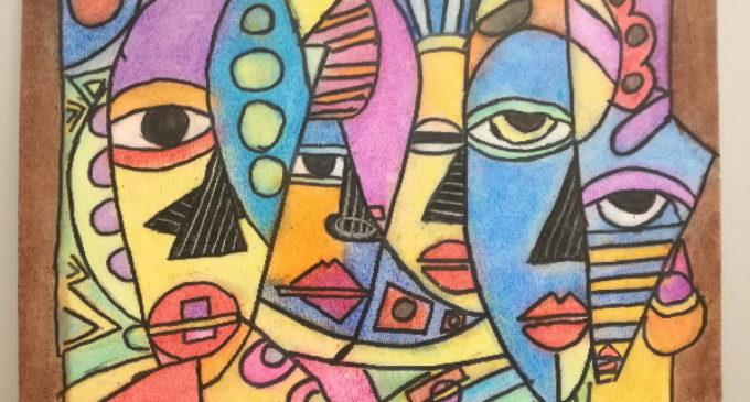 En «Miradas» se exponen 18 cuadros realizados por personas con discapacidad intelectual